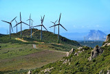 Turbines and 'The Rock', Andalucia