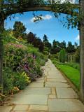 Garden path, Crathes Castle