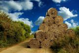 Hay bale pyramid, South Cadbury