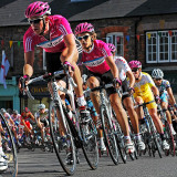Cyclists on the Tour of Britain (2542)