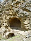 Bullet-riddled cave