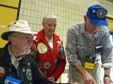 Veteran Hikers Help At Information And Check-In Table