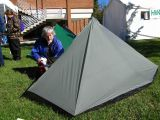 Hiker Check's Out Sixmoon Design  Poncho Tent.