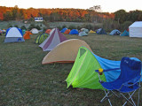 Tents Of All Types Set Up At Pipestem