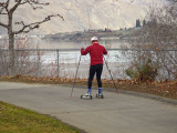 Walkers, Bikers And Jogger Hit The River Walk As Spring Approaches