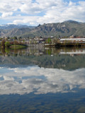 Columbia  River In  Downtown Wentachee