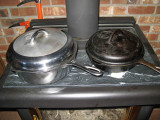 My #8 Chicken Skillet ( Chrome) And #6 Griswold Skillet With Lid