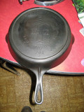 Griswold # 8  Slant Logo Skillet With Raised Heat Right