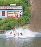 Big Splash At Bottom Of Hill