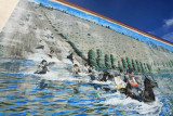 Mural Of The Stampede Suicide Race In Downtown Omak