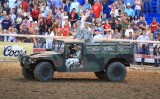 Humvee Driven By Rodeo Queen With Two Recruiters Try To Recruit Cowboys