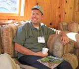 2006 Thru-hiker Enjoying Good Company And PCTA Mag. At Gathering