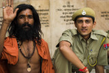 Sadhu and friend, Pushkar, India