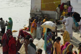 Bathing in the sacred lake, Pushkar