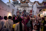 Devotees throng the Brahma Temple just after dawn