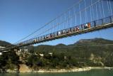 Laxman Jhula footbridge spans the Ganges