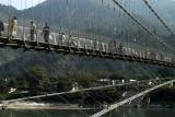 Ram Jhula footbridge crosses the Ganges further downstream