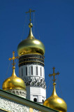 Domes of Ivan the Great Belltower, the Kremlin, in Moscow
