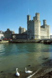 Caernarfon: harbour and castle