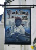 Sign of the Black Boy public house, Caernarfon