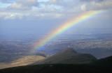 Rainbow over Llanberis, below Mt Snowdon