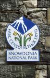 Snowdon National Park sign