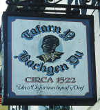 Sign of the Black Boy public house, Caernarfon, North Wales, UK