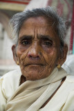 An elderly pilgrim, Haridwar, India