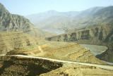 Looking down into the Wadi Bih, Musandam Peninsula