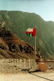 An Omani border post deep in the Musandam Peninsula