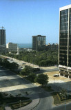 Looking north from my apartment towards the Gulf