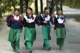 Garwhali schoolgirls
