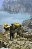 Sulphur mine workers, Ijen