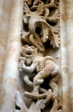 Ice-cream cone features in a bas-relief outside the New Cathedral, Salamanca