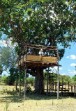 Game-viewing hide, Liwonde National Park