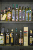 Olive oils displayed at the PCO producers' cooperative