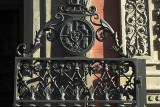 Iron gate of an historic monastery on Calle Alcala