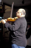 Fiddler busking near the Plaza Mayor