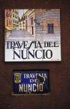 Travesa del Nuncio street signs