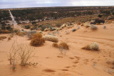 Track across the dunes