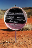 Unofficial road sign at 'Lynnie Junction'
