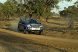 LandRover Freelander showing its stuff outside Isisford
