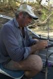 Fishing in Cooper Creek, western Qld