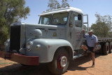 Australia: Bill Baskett with his restored Leyland truck, Windorah, Qld