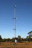 Solar-powered communications mast