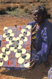 A Walpiri artist displays her work