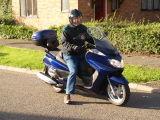 Stephen on Yamaha Majesty 400