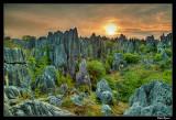 Sunrise over Shilin Stone Forest