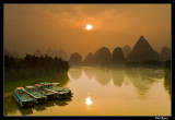 Sunrise over the Li River, Yangshuo