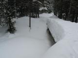 4 Foot Snowpacked bridge... rough to cross